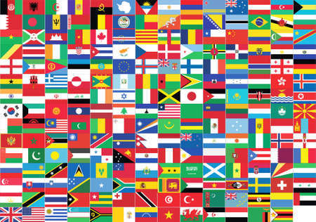 world flags giving a message of union photo