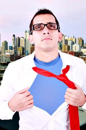 Stylized superhero businessman photo