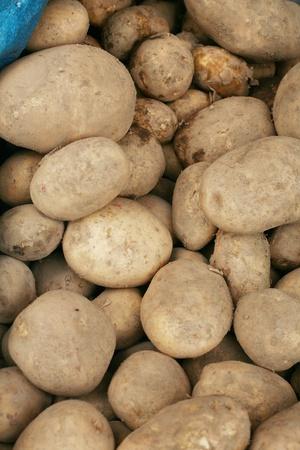 jacket potato: potatoes raw vegetables food pattern in market  Stock Photo