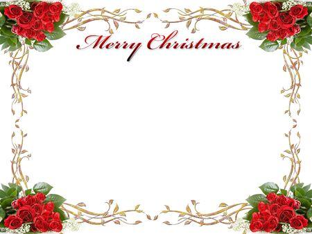 bell bronze bell: Navidad de fondo con las rosas y las hojas