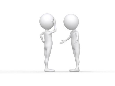 pardon: symbolique masculine 3d dire à un ami qu'il est désolé