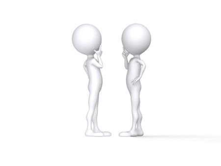 Two persons talk, carry on negotiations Stock Photo - 11056093