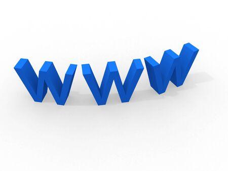 world wide web 3d  Stock Photo - 11056103
