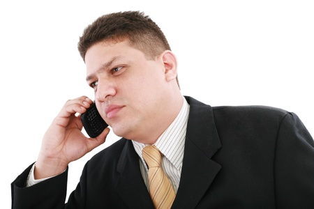 Business man talking on the phone Stock Photo - 11429787
