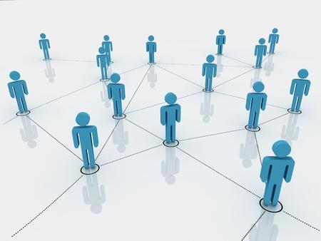 figuras humanas: figuras humanas como un s�mbolo de la red social