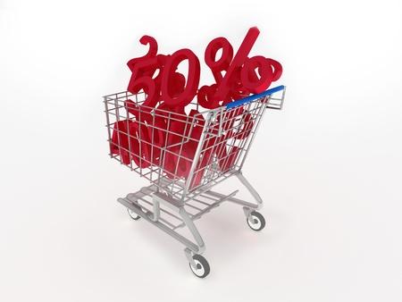 3d Concept of discount photo