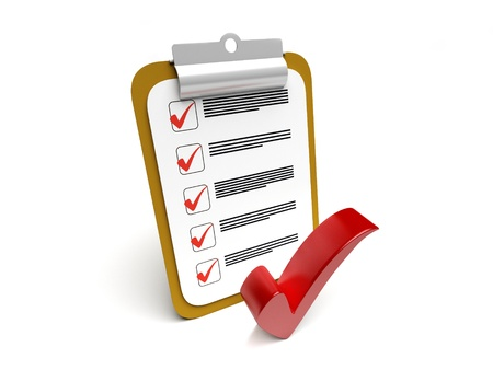 checklist: Clipboard with checkmark