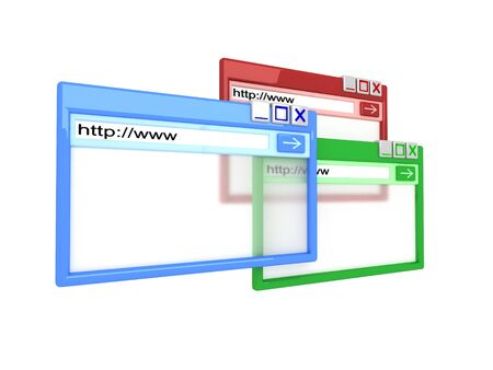 web address: colorful Internet browser
