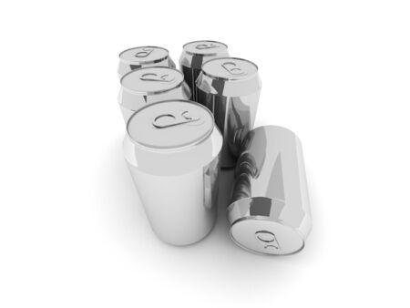 lata de refresco: aluminio envases para bebidas Foto de archivo