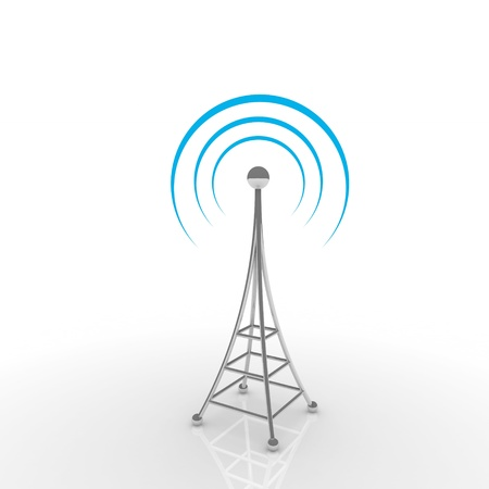 tv antenna: Mobile antena. Communication concept