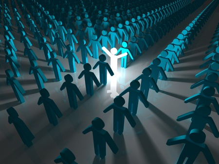 among: Stand Out From The Crowd Stock Photo