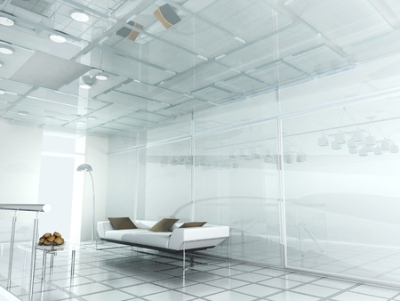 new modern office 3d  photo