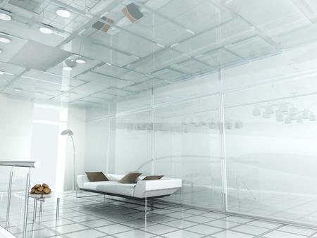 new modern office 3d  Stock Photo
