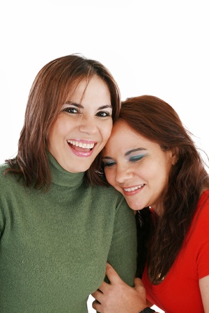 Portrait of two women laughing photo