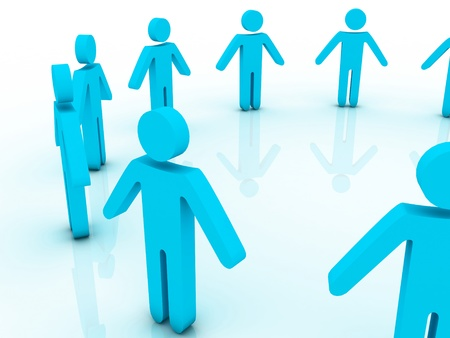 unification: 3d people in a big circle Stock Photo