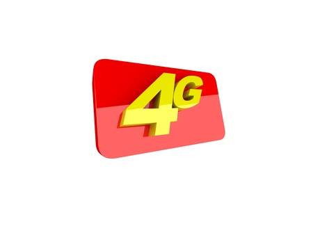 The letters 4G representing the new standard in wireless communication  photo