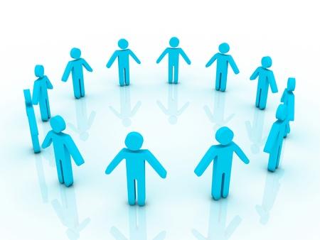 unification: Human circle Stock Photo