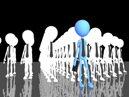move ahead: Human making the difference - a 3d image