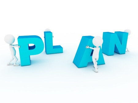 long term goal: 3d business characters building plan word