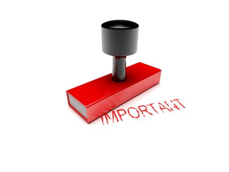 rubber stamp important Stock Photo - 12222164