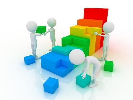 interraction: Partnership  Stock Photo