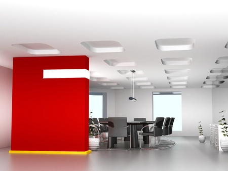 projection: Business meeting room in office with modern decoration