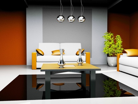 office waiting room in a drawing 3d image  photo