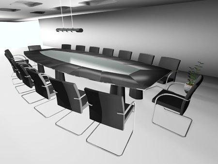 3d round conference room, isolated on white  Stock Photo - 12580557