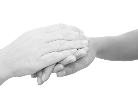 condolence: Hands expressing symbolic sympathies while holding each other