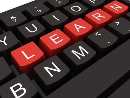Computer keyboard with key Learn, internet education concept Stock Photo - 12886688