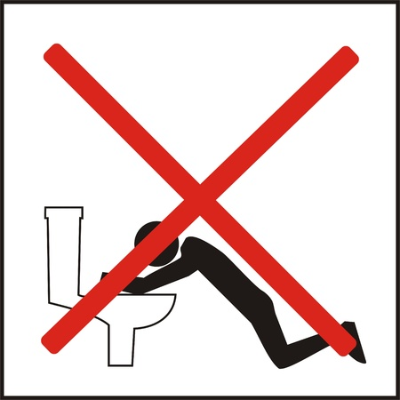 Incorrect ways of using the public toilets Stock Photo - 12886676