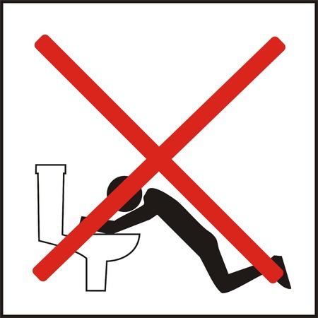 Verkeerde manier van het gebruik van de openbare toiletten