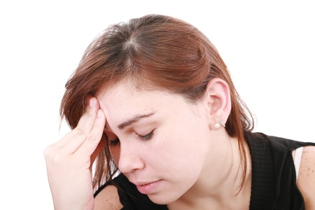 woman having a headache  Stock Photo - 12886865