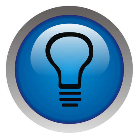 Glossy idea web icon design element. Electricity payment photo