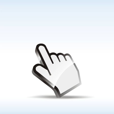 clique: abstract hand icon illustration Stock Photo