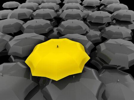Verschillende, speciale, unieke, leider, beste, slechtste, teamwork, baas en discriminatie begrip