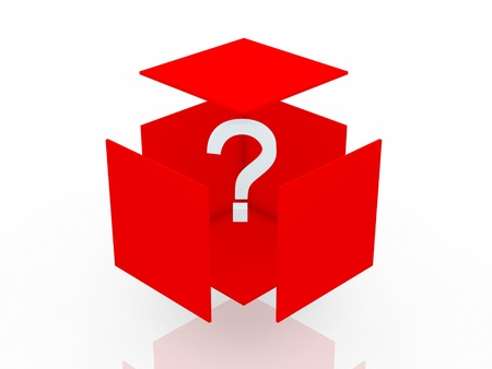 probable: Question Box  Stock Photo
