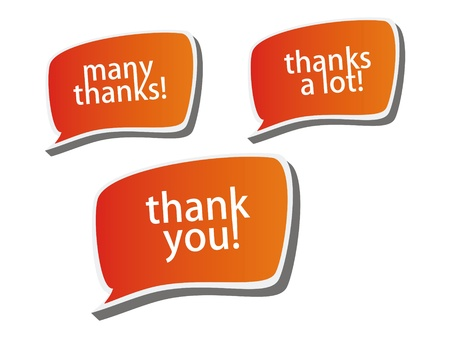 Thank you - grateful color bubbles design  Stock Photo - 13051985