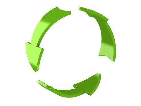 bucle: 3d hacer de las flechas de reciclaje Foto de archivo