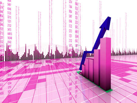 stock market chart: business graphic