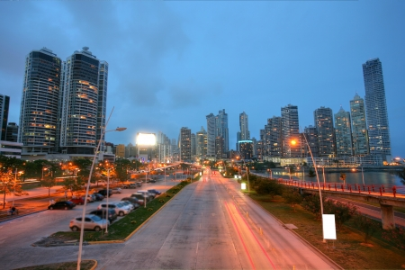 Panama City by Sunset Stock Photo
