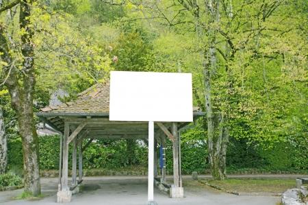 billboard in a public park background Stock Photo - 13961453