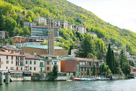 nice house: The view of Lugano and Lugano lake