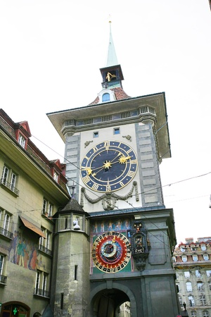 zodiacal: Famous Zytglogge zodiacal clock in Bern, Switzerland