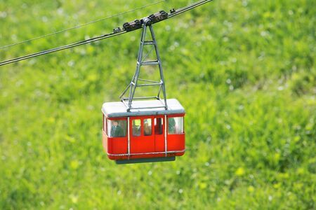 Cable car in Films Switzerland during the summer photo