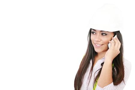 A young pretty hispanic woman architect Stock Photo - 14710549