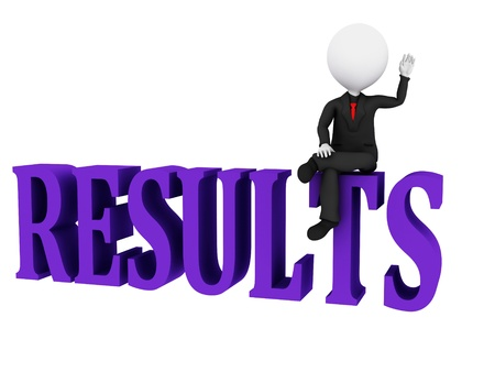 Results Concept. Results word on white background  photo