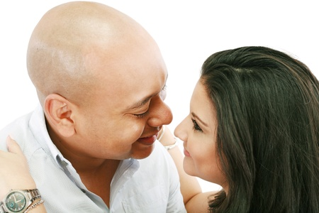 Couple looking lovingly at each other Stock Photo - 15199733