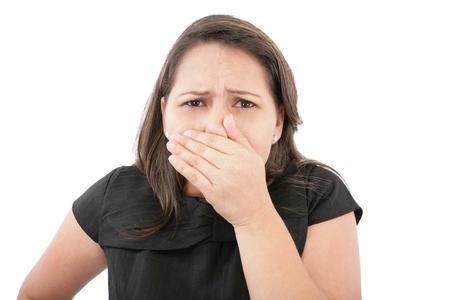 tufo: Cubrir su nariz despu�s de un mal olor