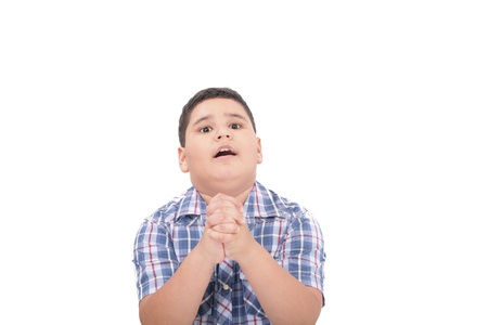 plea: Hands together in prayer with divine aura